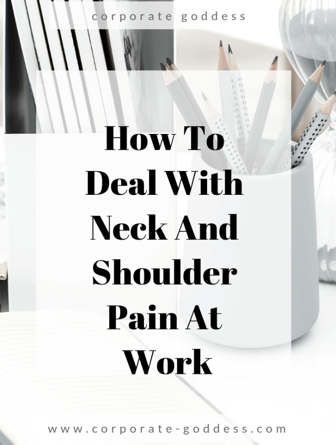 How to deal with neck and shoulder pain at work - how to relieve neck and shoulder pain using essential oils