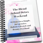 THE BLEND SCHOOL FREE DETOX WEEKEND CHALLENGE Take a toxin cleanse and detox your hair, body and life over one weekend with the Blend School Detox Weekend Challenge.