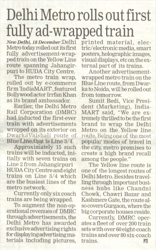 The Statesman Delhi Metro
