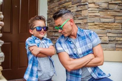 Resultado de imagen de padre e hijo vestidos iguales