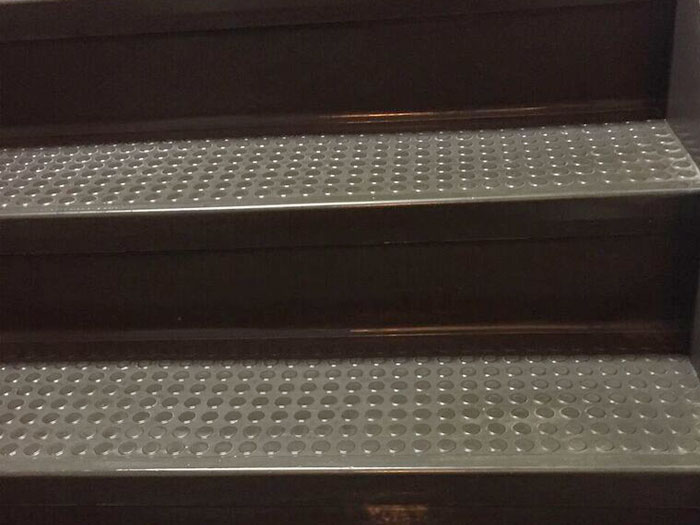 Rubber Stair Cleaning