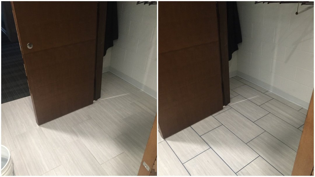 Grout Dyeing Before & After