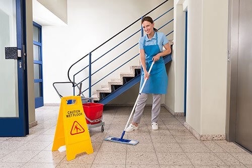 Custodian Performing Quality Service