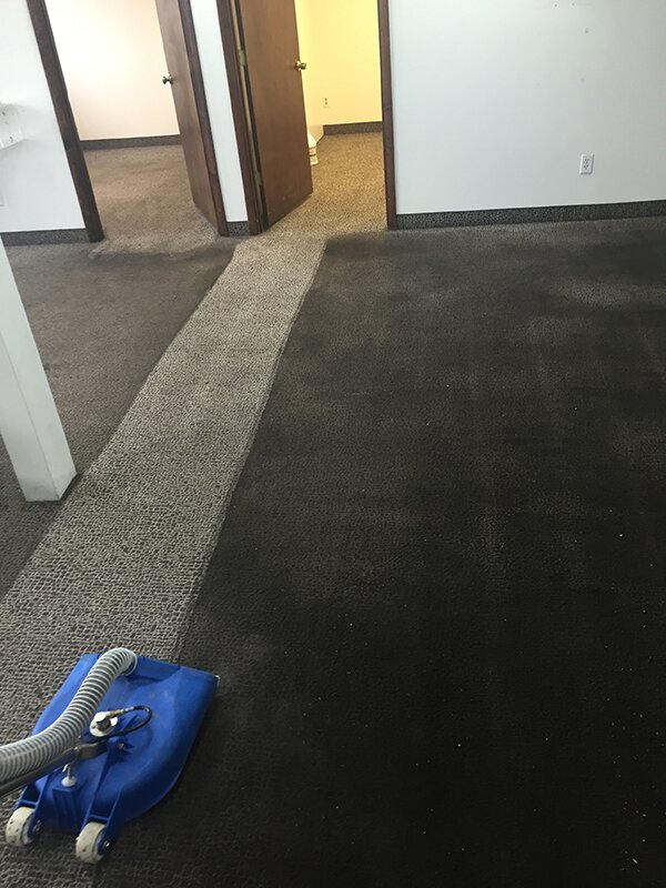 Deep carpet cleaning before and after in Grand Rapids