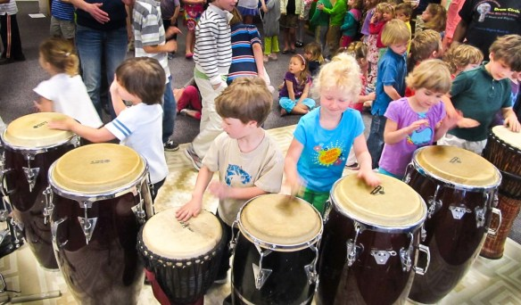 From small to large venues we can create a Drum Circle that is just right for you. Special NO BULLYING Drum Circle