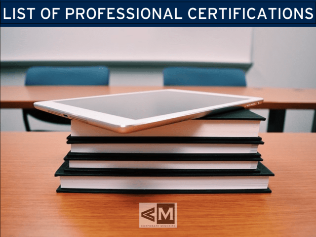 List of Professional Certifications by Industry - The Corporate Minority