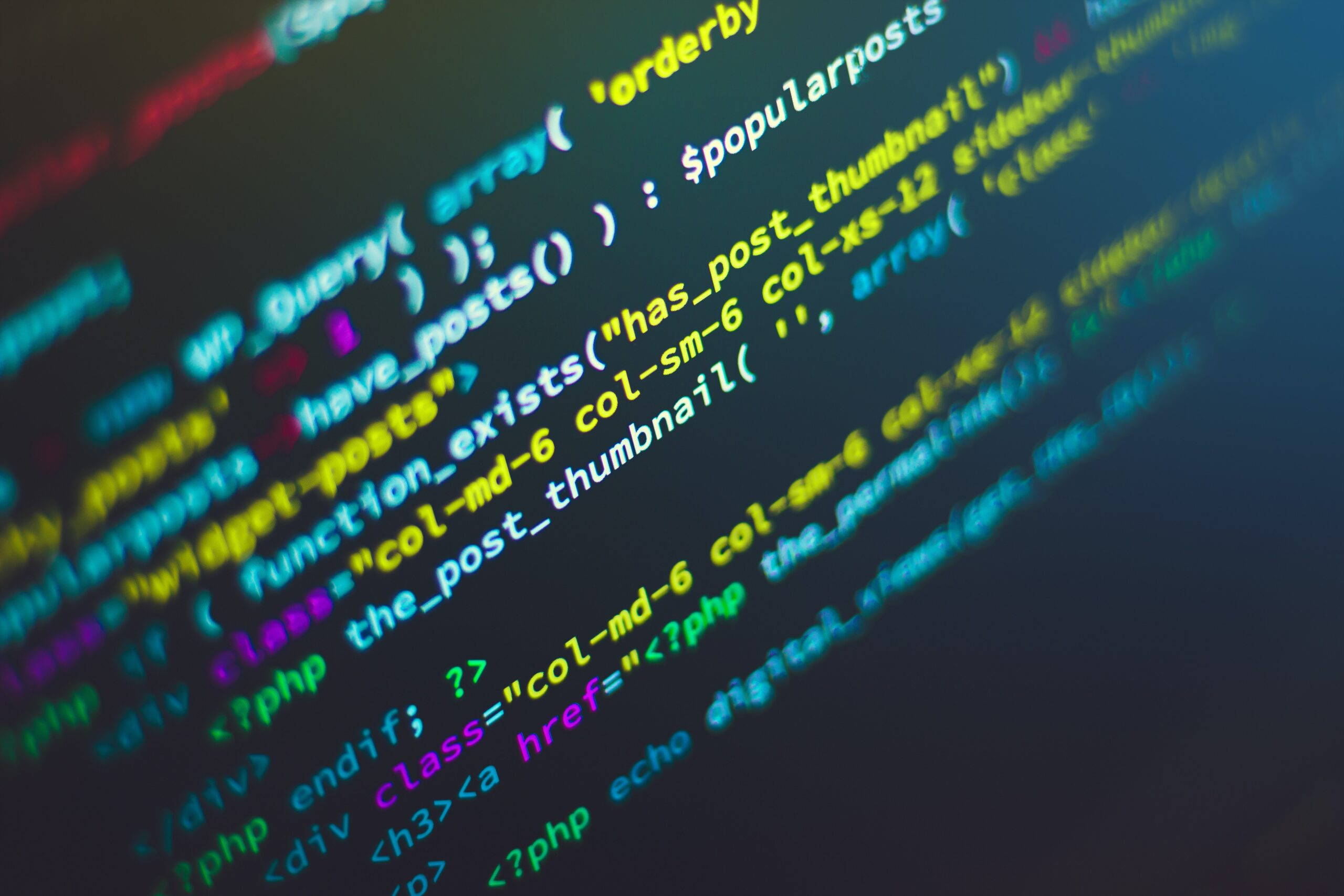 pictire of code on computer monitor