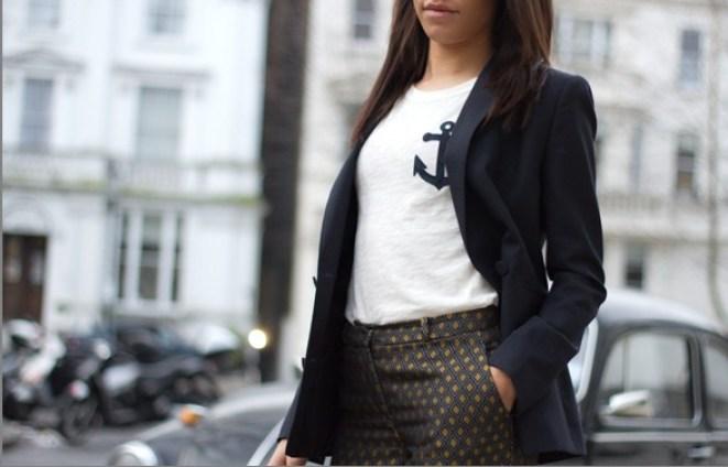 corporate-style-story-zara-printed-trousers-jcrew-logo-tee-reiss-navy-blazer-zara-bow-shoes-jaeger-camel-coat-1-1-587x377@