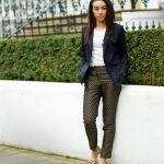 corporate-style-story-zara-printed-trousers-jcrew-logo-t-shirt-reiss-navy-blazer-zara-bow-shoes