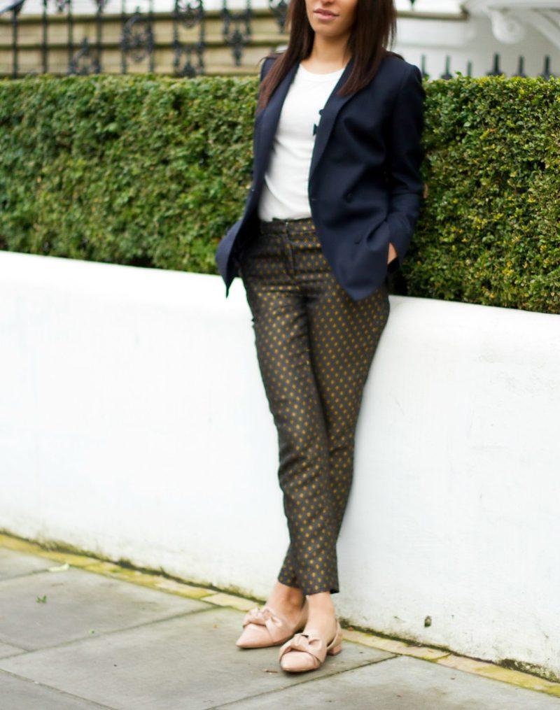 corporate-style-story-zara-printed-trousers-jcrew-logo-tee-reiss-navy-blazer-zara-bow-shoes-jaeger-camel-coat-1-4-800x1015@