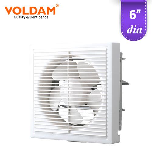 voldam full plastic grille square exhaust fan 6