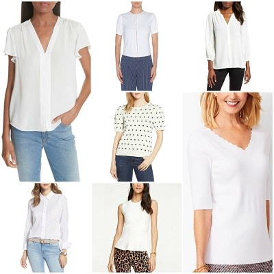 the best white tops for work
