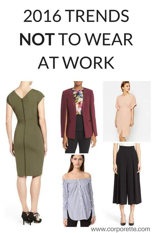 2016 Trends What WONT You Wear to Work Corporettecom