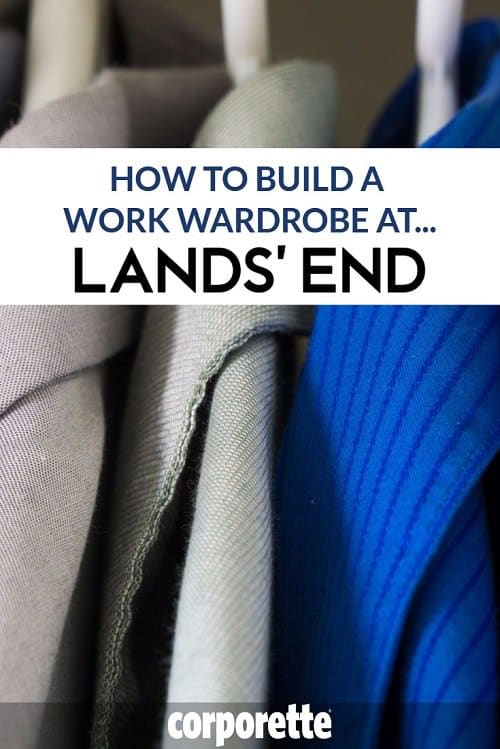 """In this installment in our popular """"How to Build a Work Wardrobe At"""" series, we take a look at Lands' End -- the readers have been singing the praises of a particular (affordable, washable, work-appropriate) dress for YEARS -- but did you know about all the other great regular items that Lands' End carries that are great basics for work outfits? We rounded up our favorite basics for work... from Lands' End."""