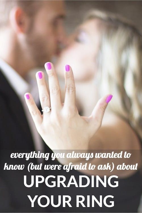 An engagement ring upgrade: would you do it? We're asking our readers about the many different ways this can look, from upgrading your ring immediately or upgrading it as part of an anniversary—as well as upgrading PART of your ring (like adding stones or otherwise changing the setting) or wearing multiple wedding rings for style/lifestyle purposes.
