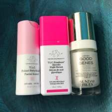 good genes vs drunk elephant glycolic night serum and babyfacial