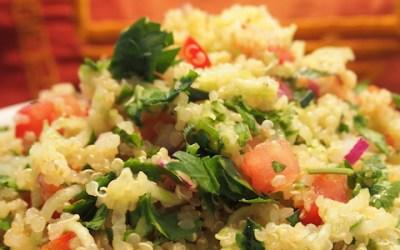 Taboulé au quinoa et à la menthe (sans gluten)