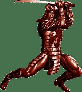 Armure de samurai faisant men