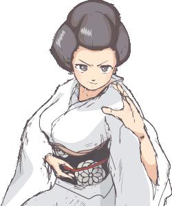 Femme manga en position de combat