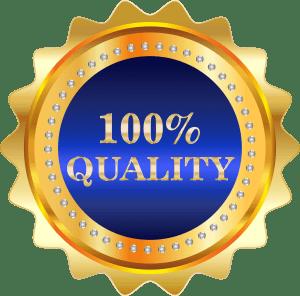 """Logo """"100% quality"""""""