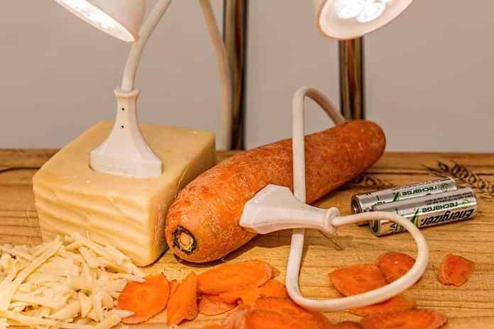 Légumes qui alimentent des lampes