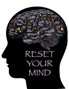"""Dessin d'un cerveau avec """"reset your mind"""""""