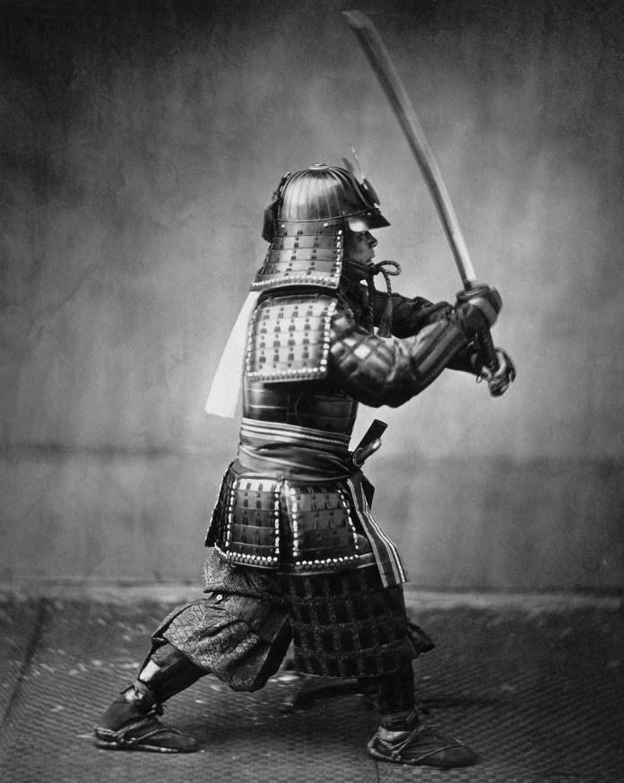 Photographie d'un samurai