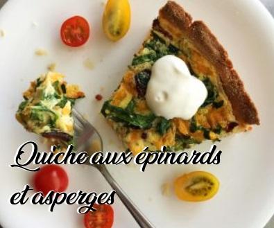 Quiche aux épinarde et asperges