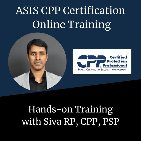 ASIS CPP Online Training - Corp Security Solutions