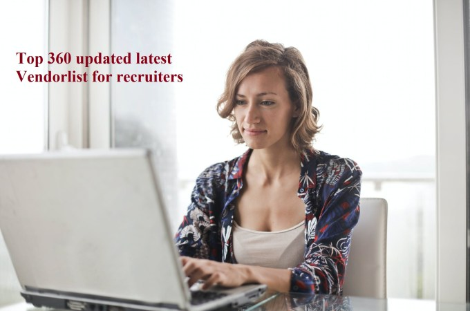 Top 360 updated Vendorlist for recruiters July 2020