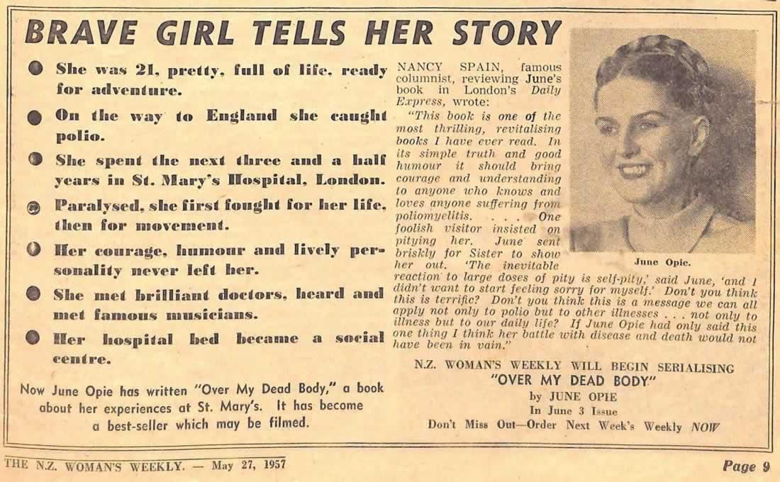 Womens Weekly 1957 - Julie Opie