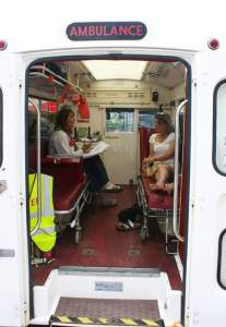 Deborah Alma emergency poet ambulance consultation