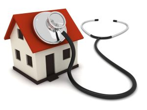 house and stethoscope
