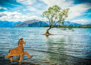 panto horse at the wanaka tree
