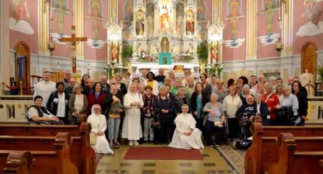 Visitors from Columbus, Ohio Pray at Corpus Christi on Wednesday, June 6th