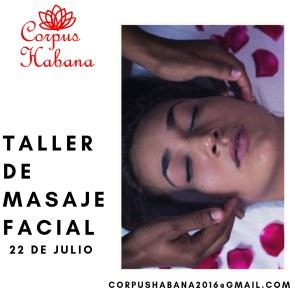 taller de masaje facial