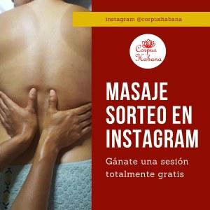 sorteo en instagram de Corpus Habana Spa