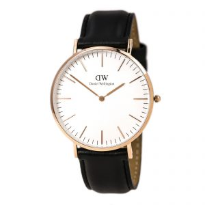 DANIEL WELLINGTON WITH LEATHER BELT, WRIST WATCH, MENS WATCHES