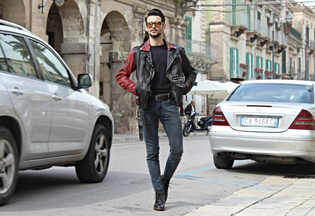 CORRADO FIRERA, GIACCA IN PELLE, LEATHER JACKET, FREAKY NATION