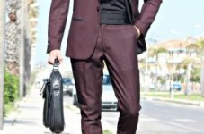 CORRADO FIRERA, OUTFITS, SMART STYLE, FASHION, WINE SUIT, MARC DARCY