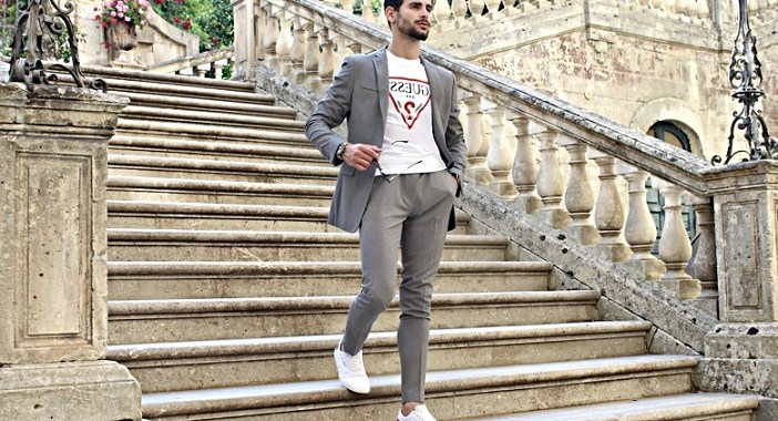 How to style a gray suit