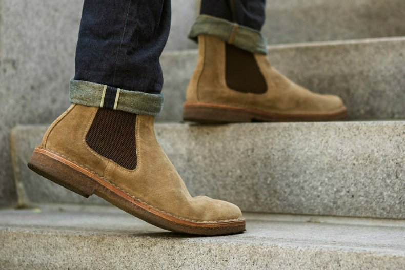 chelsea boots, baige
