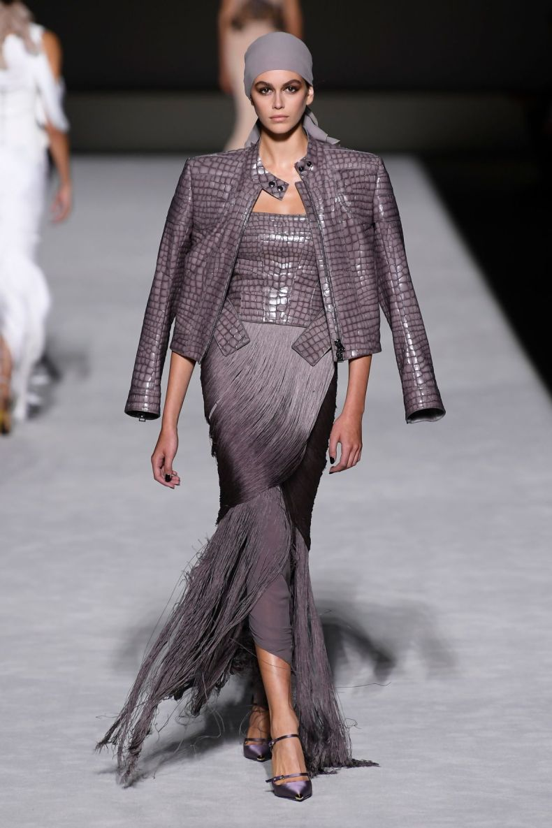 Kaia Gerber walking for Tom Ford - S/S 2019