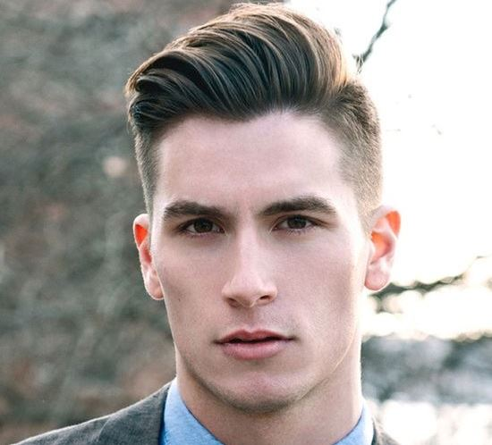 Mens Hairstyle on one side