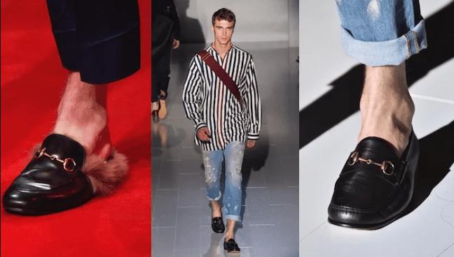 mocassini upmo Gucci, tendenze scarpe uomo inverno 2019