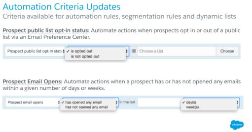 Pardot Automation Criteria Update
