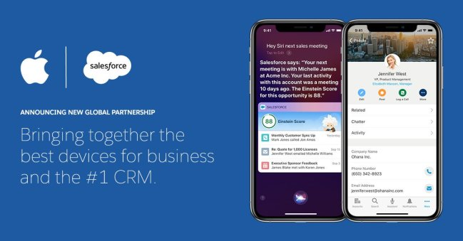 Salesforce and Apple Partnership at Dreamforce 2019