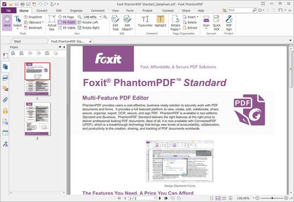 Foxit PhantomPDF, una alternativa ligera para la edición de textos