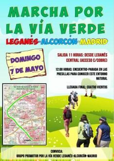 7 de Mayo: Marcha por la vía verde Leganés - Alcorcón - Madrid