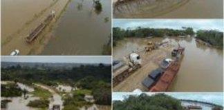 Rio Madeira continua subindo, em Rodônia/Foto: Divulgação